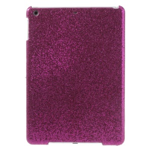 Flash Sequins Leather Coated Hard Shell Case for iPad Air - Rose