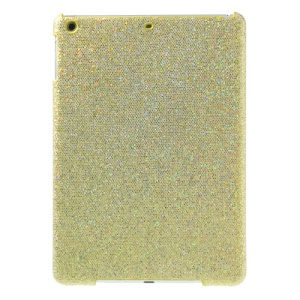 Flash Sequins Leather Coated Hard Case Shell for iPad Air - Gold
