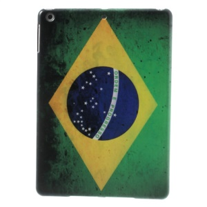 Brazil Country Flag Design Plastic Case Cover for iPad Air 5