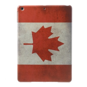 Canada National Flag Pattern for iPad Air 5 Hard Plastic Case