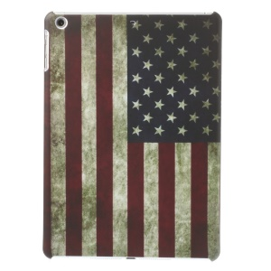Retro US American Flag Matte Hard Plastic Case for iPad Air 5