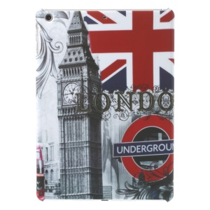 Big Ben & London Underground Pattern Matte Plastic Hard Case for iPad Air 5