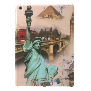 Statue of Liberty Pattern Matte Plastic Hard Cover for iPad Air 5