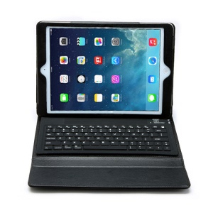 2 in 1 Bluetooth Keyboard and Leather Case for iPad Air - Black