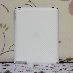Carbon Fiber Back Skin Protector Film Cover for iPad Air - White