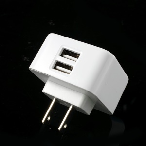 US Plug Dual USB Home Travel Power Charger for iPhone iPad Samsung HTC LG