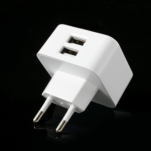 EU Plug Dual USB Home Travel Power Adapter for iPhone iPad Samsung HTC LG