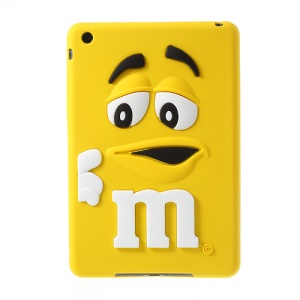 Cute M&Ms Bean for iPad Mini Candy Smell Silicon Case Cover - Yellow