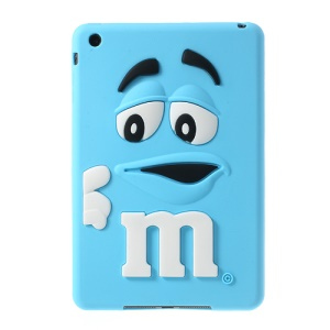 Cute M&Ms Bean Candy Smell Silicone Case Shell for iPad Mini - Blue