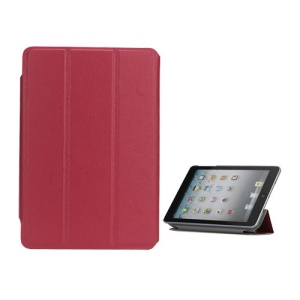 Folio Style Leather Magnetic Case Cover for iPad Mini - Rose