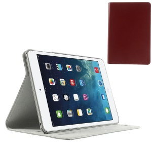 Doormoon Genuine Leather Smart Cover Case for iPad Mini w/ Stand - Red