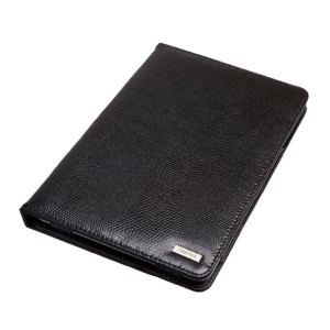 Seenda IC10 Fashion Snake Texture Smart Genuine Leather Stand Case for iPad Mini - Black