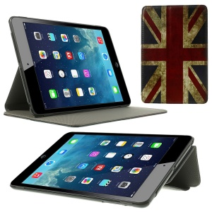 Retro Union Jack Flag Leather Stand Case Cover for iPad Mini
