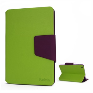 Magnetic Smart Folio Leather Card Slots Stand Case Cover for iPad Mini - Green