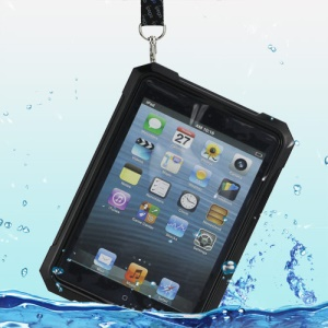 iPega Superb Protective Hard Waterproof Case for iPad Mini + Neck Strap - Black