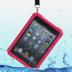 iPega Superb Protective Hard Waterproof Case for iPad Mini + Neck Strap - Rose