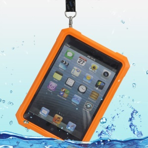 iPega Superb Protective Hard Waterproof Case for iPad Mini + Neck Strap - Orange