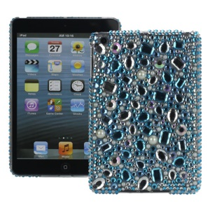 Luxury Sparkling Diamond Pearl Protective Plastic Case for iPad Mini