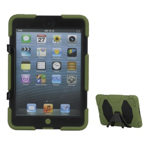 New Griffin Survivor Military Duty Silicone &amp; PC Hard Case for iPad Mini with Stand &amp; Screen Protector - Black / Army Green