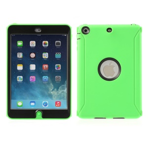 Hybrid Silicone and Hard Plastic Case Cover for iPad Mini / iPad  Mini 2 with Screen Protector - Green