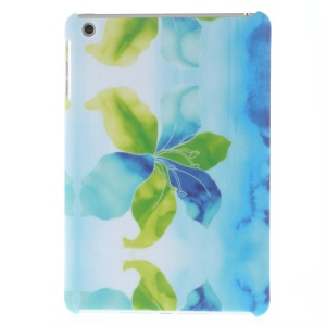 Matte Hard PC Shell for iPad mini - Green and Blue Flower