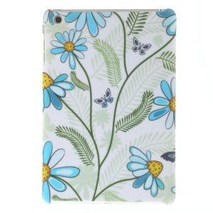 Matte Hard PC Case for iPad mini - Butterfly and Daisy Flower