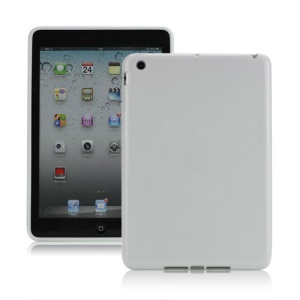 High Glossy TPU Gel Cover for iPad Mini - White