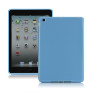 High Glossy TPU Gel Cover for iPad Mini - Blue