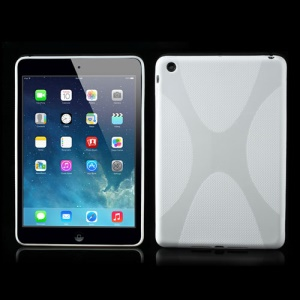 Skidproof X Shape TPU Gel Case Cover for iPad Mini