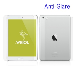 Wriol M Series for iPad Mini Matte Anti-fingerprint LCD Film Suite Edition w/ Back Film & Camera Film
