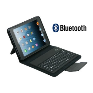Detachable Leather Bluetooth Keyboard Case for iPad Mini