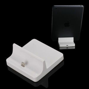 Lightning 8pin Charging Dock Docking Station Cradle for iPad 4 / iPad Mini - White