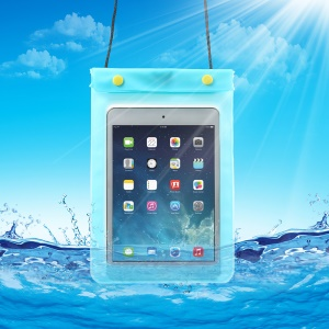 WaterGuard Waterproof Protective Bag Case for Apple iPad Mini (Size: 220x160mm) - Transparent Blue