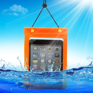 Waterguard Waterproof Case Dry Pouch Bag for iPad Mini (Size: 220x160mm) - Orange
