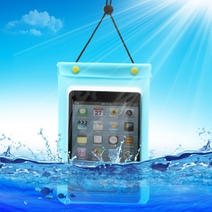 Waterguard Waterproof Case Dry Pouch Bag for iPad Mini (Size: 220x160mm) - Blue