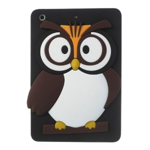 Black for iPad Mini 2 / iPad Mini Cute 3D Owl Soft Silicone Jelly Case