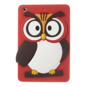 Red for iPad Mini 2 / iPad Mini Cute 3D Owl Soft Silicone Jelly Case