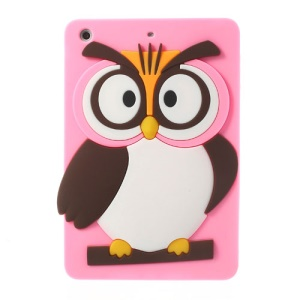 Pink for iPad Mini 2 Retina / iPad Mini Cute 3D Owl Soft Silicone Cover