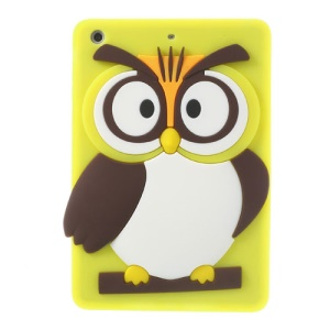 Yellow for iPad Mini 2 Retina / iPad Mini Cute 3D Owl Soft Silicone Cover