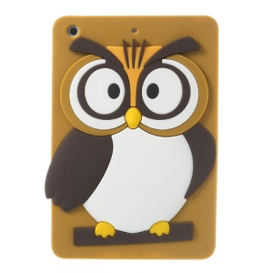 Brown for iPad Mini 2 Retina / iPad Mini Cute 3D Owl Soft Silicone Cover