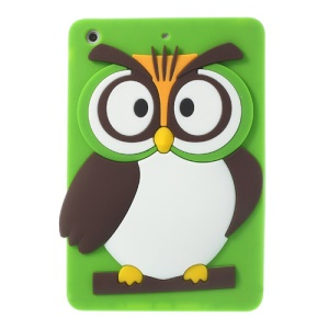 Green for iPad Mini 2 Retina / iPad Mini Cute 3D Owl Soft Silicone Cover