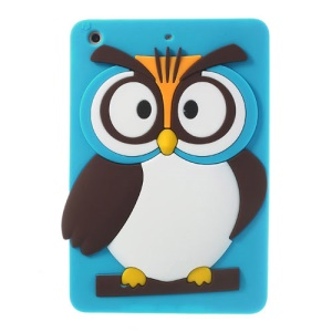 Blue for iPad Mini 2 Retina / iPad Mini Cute 3D Owl Soft Silicone Skin