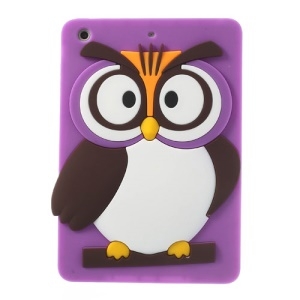 Purple for iPad Mini 2 Retina / iPad Mini Cute 3D Owl Soft Silicone Skin