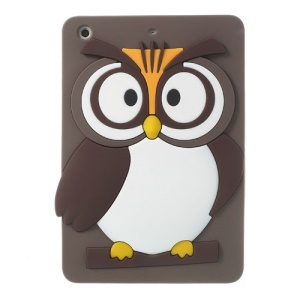 Coffee for iPad Mini 2 Retina / iPad Mini Cute 3D Owl Soft Silicone Skin Cover