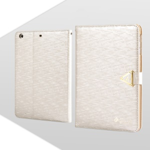 White Leiers Eternal Series Magnetic Leather Case for iPad Mini / Mini 2 Retina w/ Card Slot & Stand