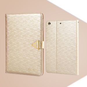 Champagne Gold Leiers Eternal Series Flip Leather Cover for iPad Mini / Mini 2 Retina w/ Card Slot & Stand