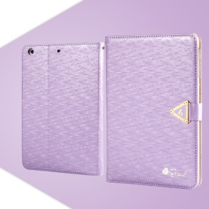Purple Leiers Eternal Series for iPad Mini / Mini 2 Retina Flip Leather Shell w/ Card Slot & Stand