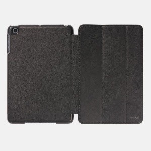 Black for iPad Mini 2 (Retina) / iPad Mini BELK Tri-folding Smart Wake Up / Sleep Leather Case Stand