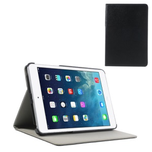 Cross Texture PU Leather + PC Protective Case for iPad Mini / Mini 2 - Black