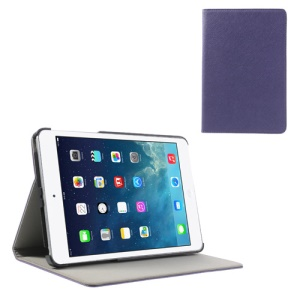 For iPad Mini / Mini 2 Cross Texture PU Leather + PC Tablet Cover Shell - Purple